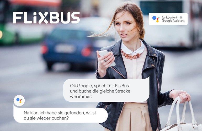 FlixBus Reise über den Google Assistant buchen Rabatt