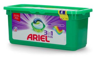 "3er Pack Ariel 3in1 Pods ""Color & Style"" (84 Stück) für 16,99€ inkl. Versand"