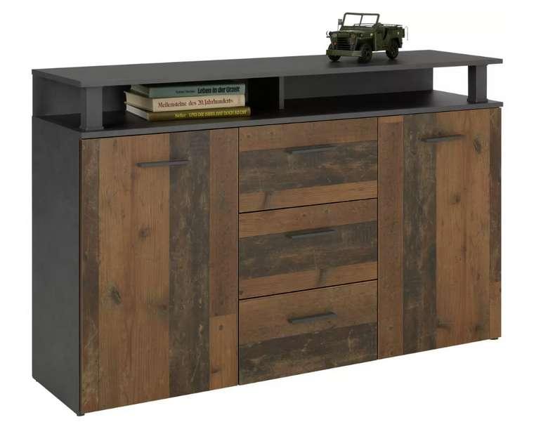 Modern Living Sideboard in Anthrazit/Dunkelbraun für 127,25€ inkl. Versand (statt 169€)