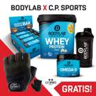 1kg bodylab24 Whey Protein + 12 x 64g Crunchy Protein Bar Riegel + 120 Kapseln Omega 3 + Shaker für 40€
