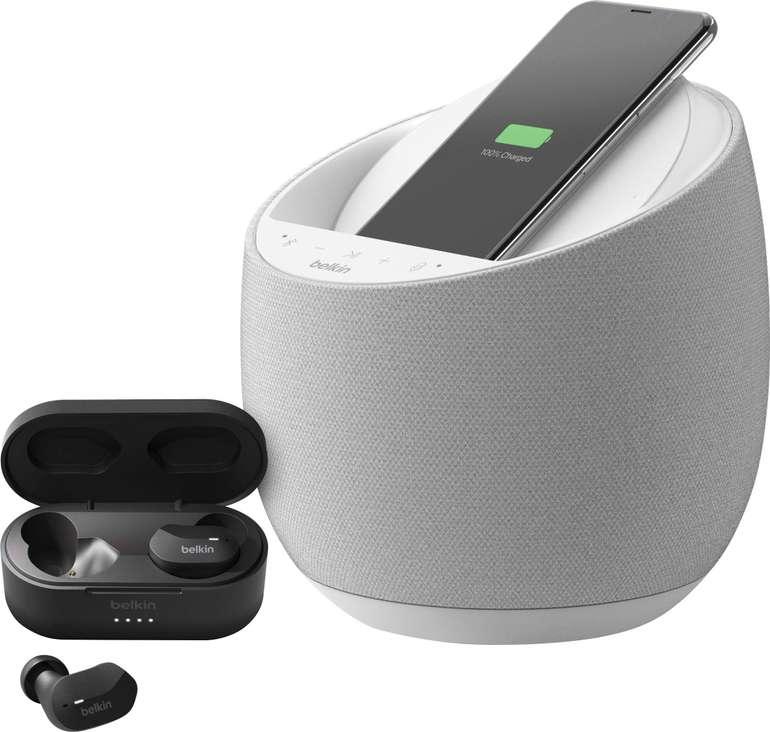 Belkin SoundForm Elite Smart Speaker (150W, WLAN, Bluetooth 5.0, WLAN, AirPlay 2, Alexa, Qi-Ladestation) + True Wireless In-Ears für 172,94€