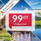3 Jahre gültig! Animod 99ers Multigutschein für über 100 Hotels (2 Übernachtungen, 2 Personen) nur 89,10€