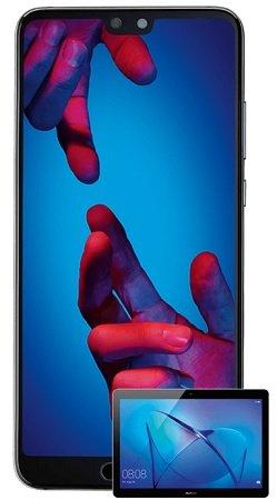 Telekom Allnet (1GB) + Huawei P20 + Mediapad T3 10 LTE Tablet für 26,99€ mtl.