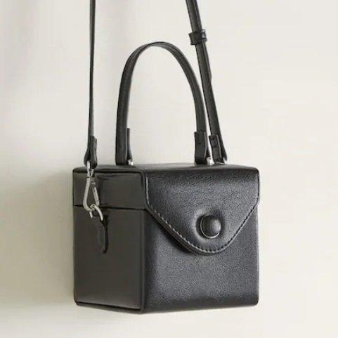 Violeta by Mango Damen Tasche 'Hft Cube' in schwarz für 26,99€ (statt 40€)