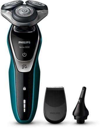 Philips Shaver 5000 S5550/44 Nass- Trockenrasierer + Nasenhaartrimmer 80,99€