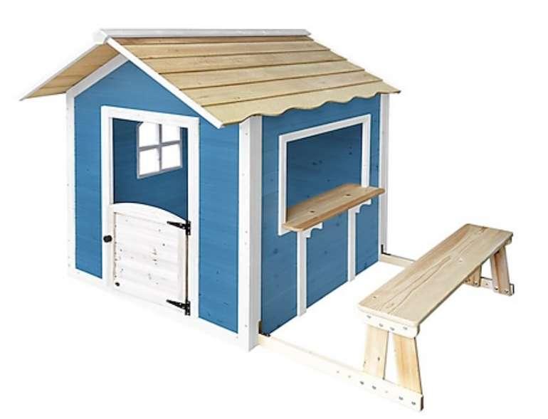 """Home Deluxe Spielhaus """"Der große Palast"""" blau, mit Bank für 214,99€ inkl. Versand (statt 269€)"""