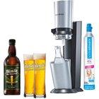 Sodastream Crystal + 60l Zylinder, Karaffe, Gläser & Bierkonzentrat 89,95€