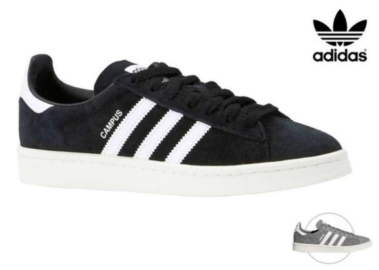 Adidas Campus Herren Sneaker in schwarz oder grau für je 45,90€ (statt 55€)