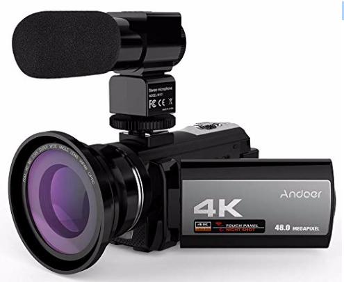 Andoer 4K Digital Videokamera (48MP, WiFi, 3,0 Zoll Touchscreen uvm.) zu 119,99€