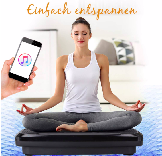 Icefox Fitness 3D Dual-Motor Vibrationsplatte mit Bluetooth Lautsprecher ab 130€