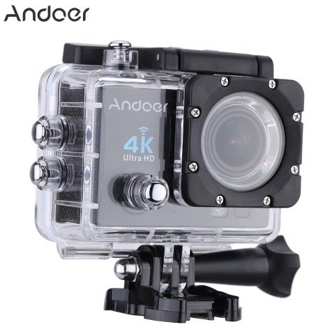 Andoer Q3H 4K Action Cam mit 170° Weitwinkel & Zubehör für 35,56€ inkl. Versand