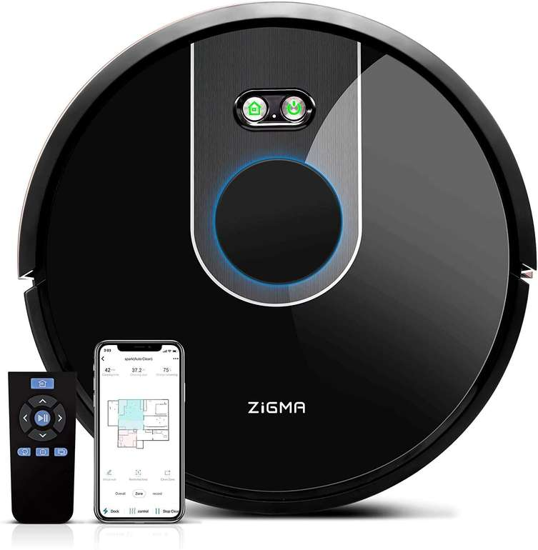 Zigma Spark Saugroboter mit Wischfunktion, LDS Navigation und APP-Steuerung für 191,99€