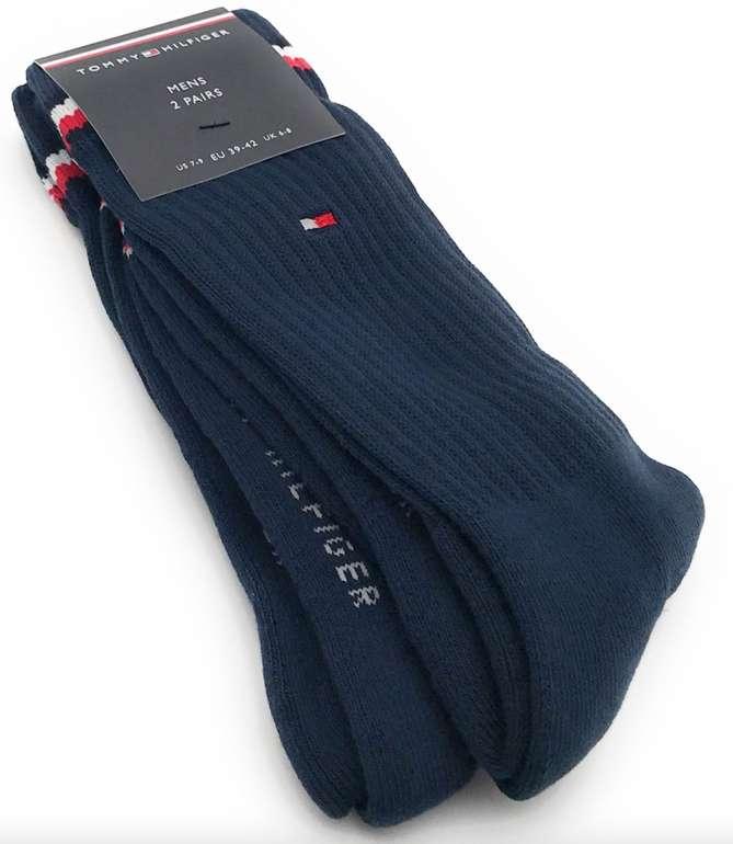 2 Paar Tommy Hilfiger Iconic Crew Socken (Größe 39-42) oder Sneaker Socken (Größe 43-46) für je 5€ (statt 11€)