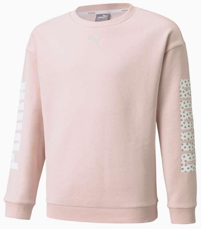 Puma Alpha Crew Neck Youth Sweater in Rosa für 20,97€ inkl. Versand (statt 35€)