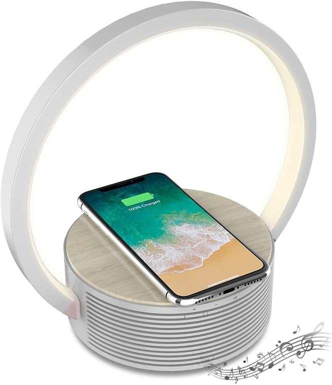 Tekage Nachttischlampe mit Bluetooth Lautsprecher & Qi Ladegerät für 27,99€ inkl. Versand (statt 40€)