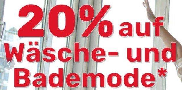 Neckermann 20% auf Wäsche- und Bademode z.B. Bench Kapuzensweatjacke für 37,94€ inkl. VSK