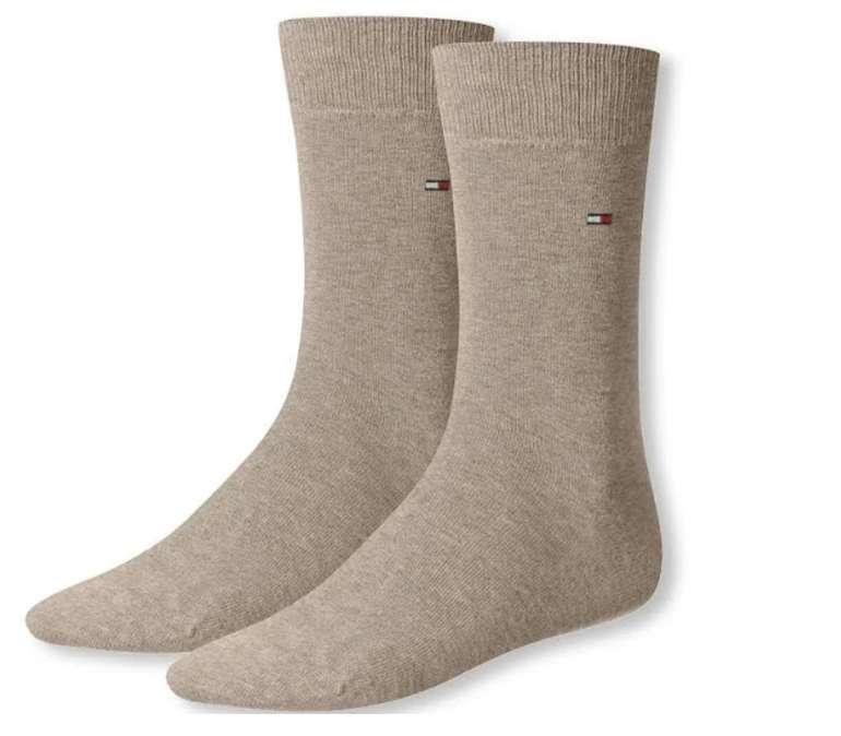 2er Pack Tommy Hilfiger Socken in beige oder schwarz (viele verschiedene Größen) für 4,95€ inkl. Versand