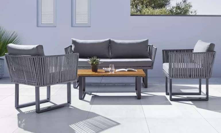 """Bessagi Garden Loungegarnitur """"Hanna"""" in Grau aus Akazie für 489,30€ inkl. Versand (statt 699€)"""