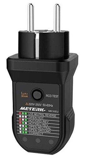 Meterk Steckdosentester für 6,92€ inkl. Versand (Prime)