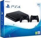 PlayStation 4 Slim Konsole mit 500 GB Speicher und 2 Controllern für 233,91€ inkl. VSK
