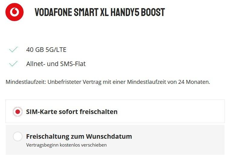 OnePlus 9 Pro 5G Vodafone Smart XL Allnet-Flat mit 40GB LTE 5G