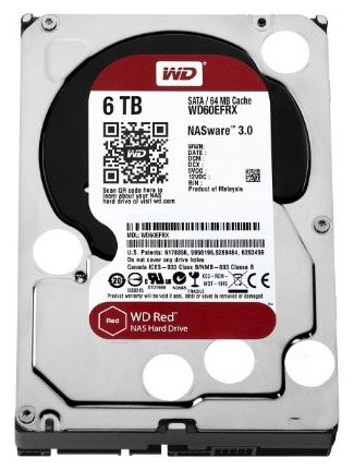 "Western Digital Red WD60EFRX 6TB HDD 3,5"" SATA-600 für 152,10€"
