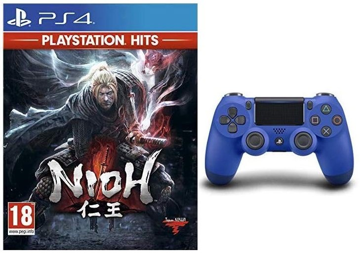 Sony DualShock 4 V2 Controller + Nioh (PS4) für 45,51€ inkl. VSK (statt 76€)