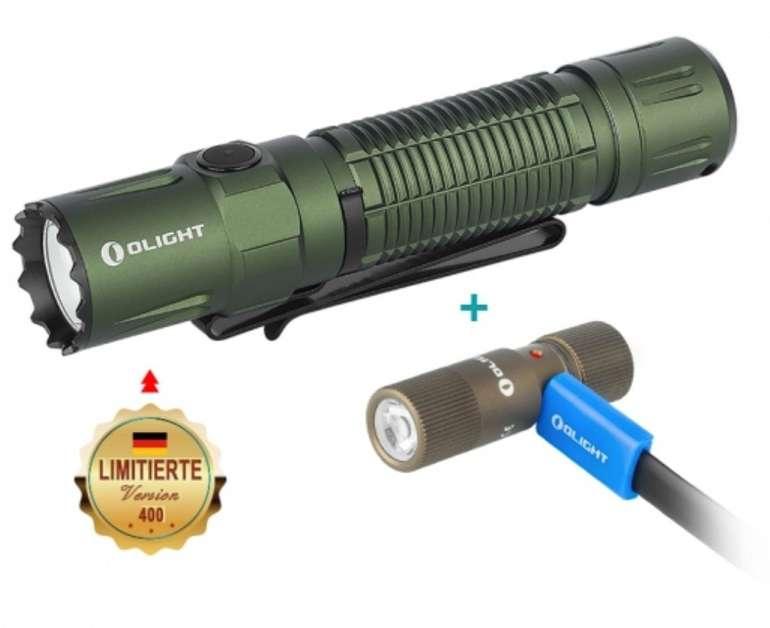 Olight M2R Pro Warrior Taschenlampe (limitiert) + I1R2 Taschenlampe im Bundle für 98,34€