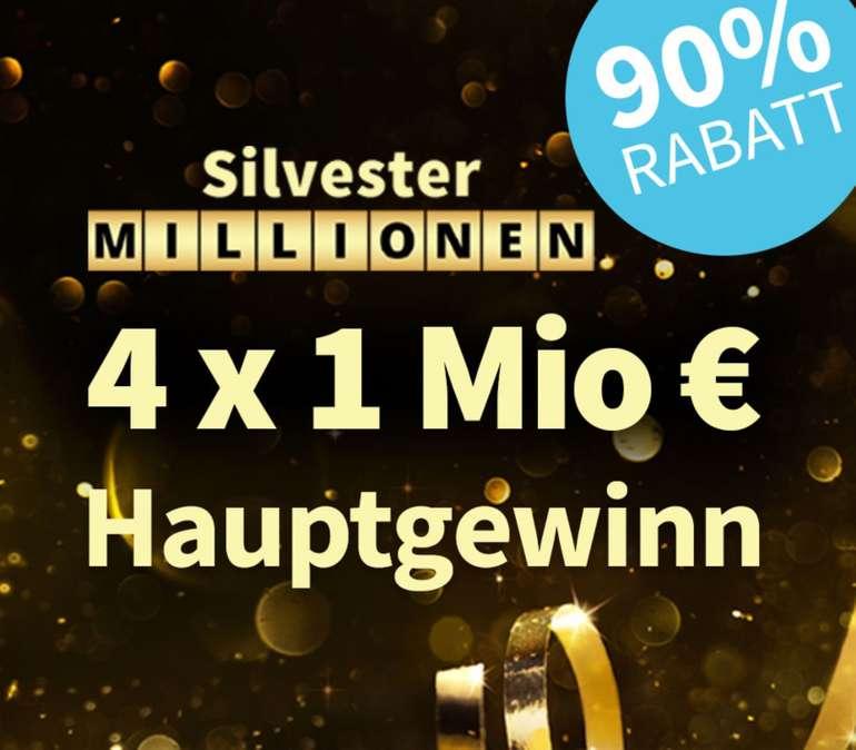 Lottohelden: 1 Los Silvester Millionen (4x 1 Millionen € Hauptgewinn) für 1€ (statt 10€) - Neukunden Aktion!
