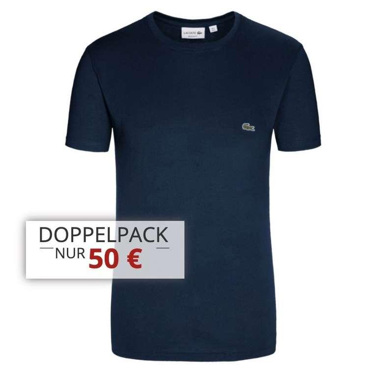 Hirmer Sale mit bis zu 50% Rabatt + 10€ Gutschein - z.B. 2er Pack Lacoste T-Shirts für 50€ (statt 70€)