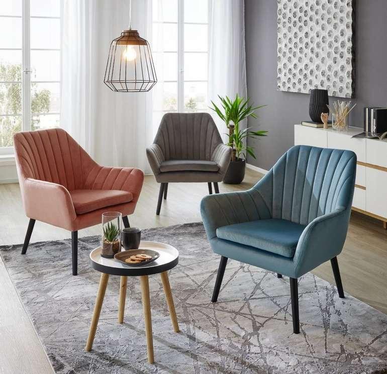 Modern Living Sessel aus Samt in 3 Farben für je 105,25€ inkl. Versand (statt 145€)