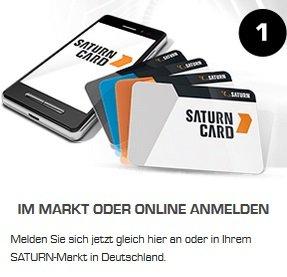 Für Saturn Card registrieren und bis zu -15% Rabatt bekommen - bis 16.03.2019!