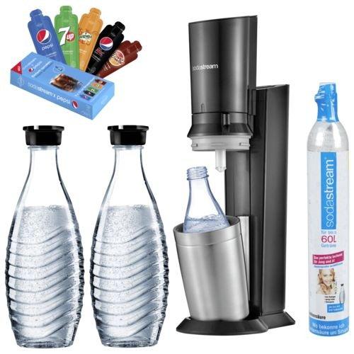 SodaStream Crystal 2.0 Wassersprudler mit 3 Karaffen + 1x Zylinder für 84,99€ inkl. Versand (statt 95€)