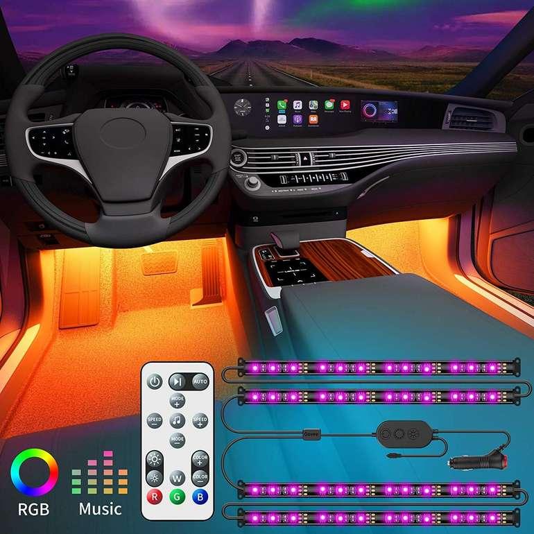 Govee Auto LED Innenbeleuchtung mit Fernbedienung (Music Sync, 48 LEDs) für 12,99€ (Prime)