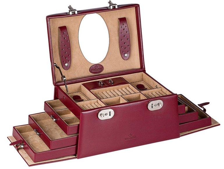 """Windrose Schmuckkoffer """"Merino"""" aus Feinsynthetik für 44,90€ (statt 110€)"""