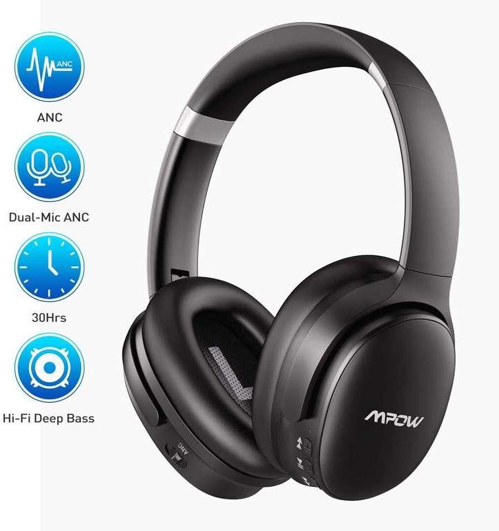 Mpow H10 Noise Cancelling Bluetooth Kopfhörer (ANC) mit bis zu 30 Stunden Spielzeit für 39,99€