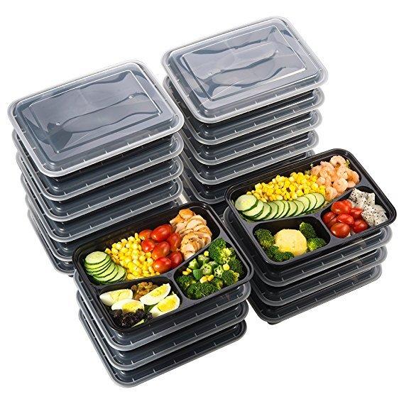 20 Sable Speiseboxen (Bentobox) mit 3-facher Trennung nur 13,99€ (statt 19€)