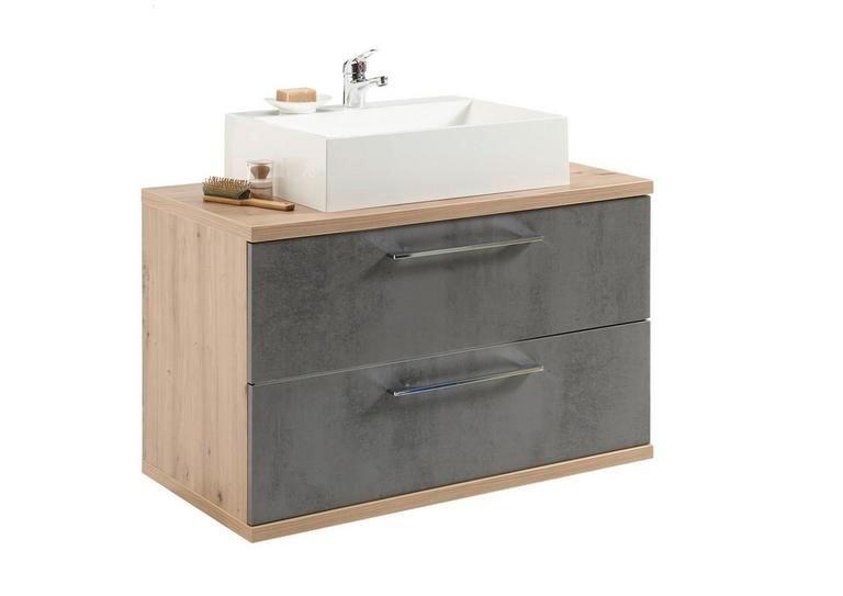 """Livetastic Waschbeckenunterschrank """"Troja"""" in Anthrazit/Eichefarbe für 215,25€ inkl. Versand (statt 299€)"""