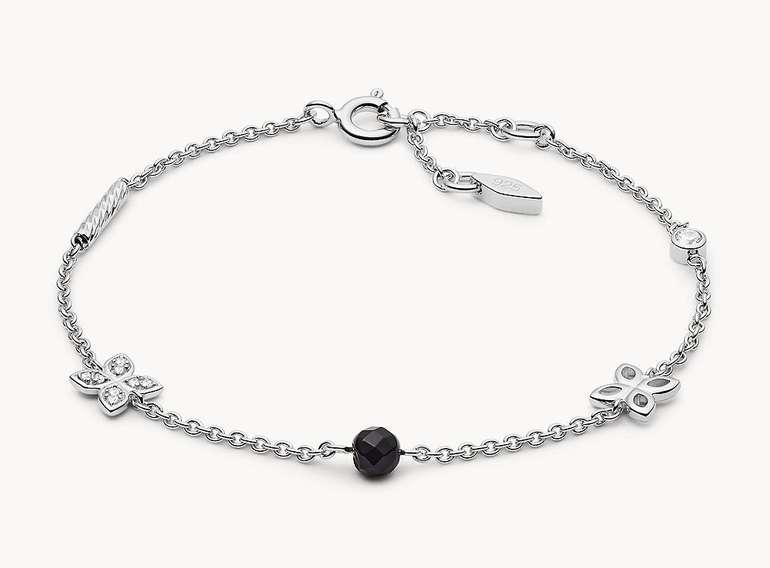 Fossil Damen Armband Ornament (Sterling Silver) für 25,50€…