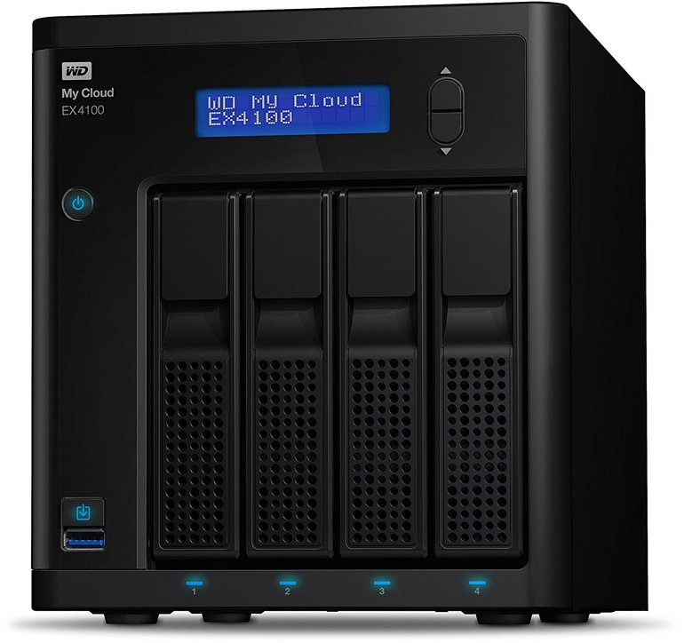 WD My Cloud EX4100 4-Bay NAS 24TB (4/4 HDD, Gigabit LAN, USB3.0) zu 806,99€