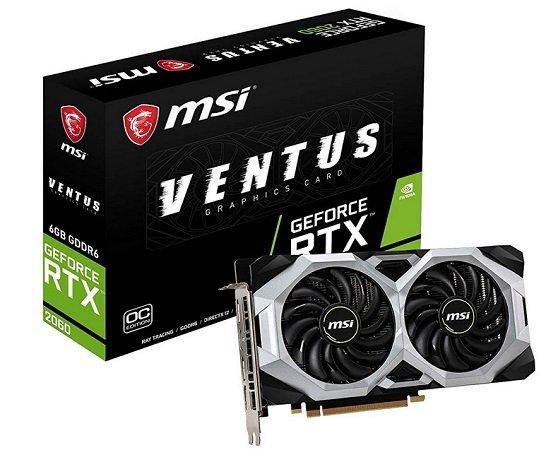 MSI GeForce RTX 2060 VENTUS 6GB Grafikkarte für 300€ (statt 373€) - KK ntwdig. !