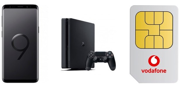 VF Red XL (unbegr. Datenvolumen + Allnet) + Galaxy S9 + PS4 Slim für 84,99€ mtl.