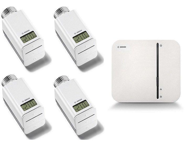 Bosch Starter Set Smartes Heizen mit 4 Heizkörperthermostate inkl. Gateway für 167,23€ (statt 243€)