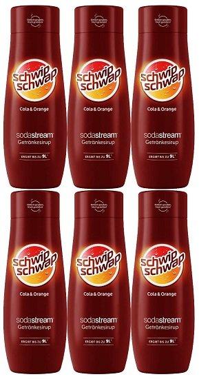 6er Pack SodaStream Sirup - Schwip Schwap 440ml (ergibt 54 Liter Getränk) für 22,99€ (statt 26€)