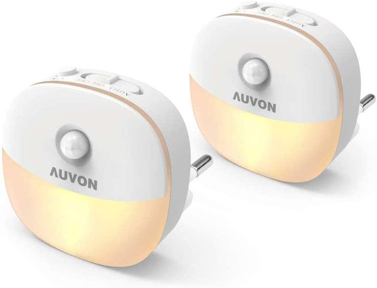 Auvon 2er Pack Steckdosen Nachtlichter mit Bewegungsmelder für 11,19€ inkl. Prime Versand (statt 16€)