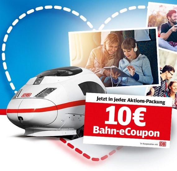 Deutsche Bahn (DB): 10€ eCoupon (ab 30€ MBW) in Ferrero Aktionspackungen