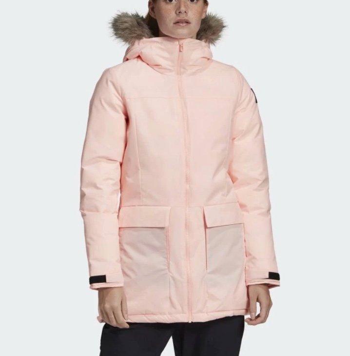 "adidas Damen Jacke ""XPLORIC"" Parka in Rosa für 54,95€ inkl. Versand (statt 72€)"