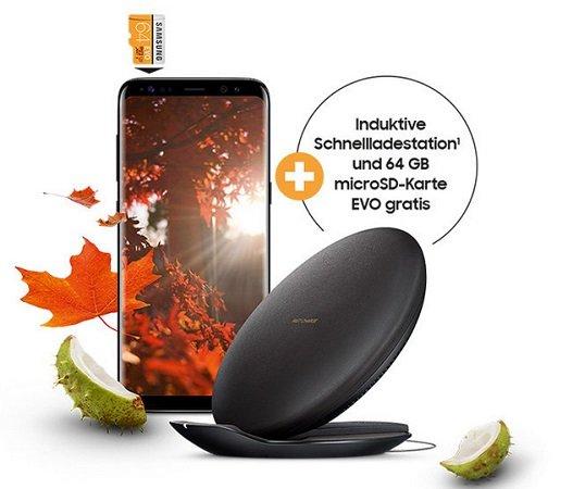 S8, S8+ o. S8+ DUOS kaufen & Schnellladestation + 64GB microSD-Karte gratis