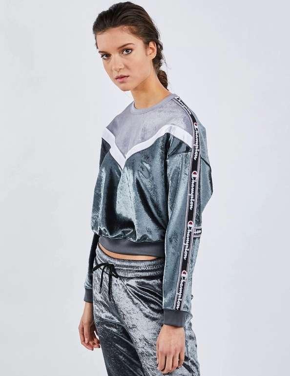 Foot Locker: 25% Rabatt auf Kleidung (auch Sale) + VSKfrei, z.B. Champion Velvet Sweatshirt für 33,74€