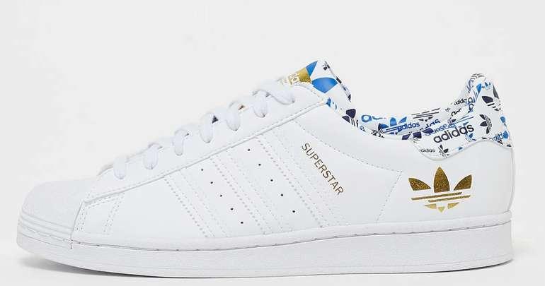 Adidas Originals Superstar Sneaker in Weiß/Gold/Blau für 69,99€inkl. Versand (statt 95€)